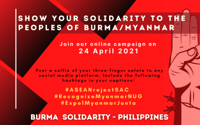 Statement by the Burma Solidarity Philippines on the Special ASEAN Summit on Myanmar